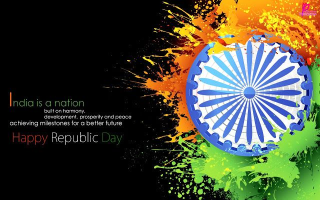 Happy Republic Day Quotes SMS with 26 January Wishes Pictures and Wallpapers